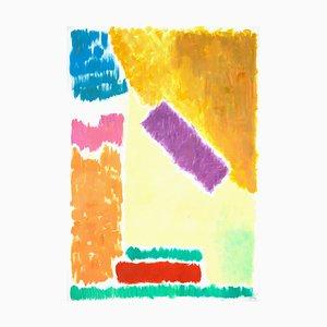 Geometrische Landschaft, Pastell, 2020