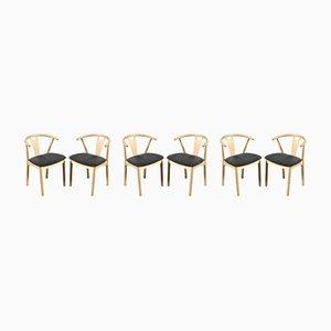 Esszimmerstühle von K. Høffer-Larsen, 1960er, 6er Set