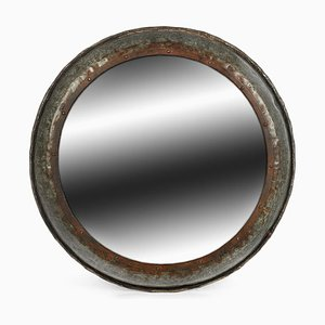 Vintage Round Metal Mirror