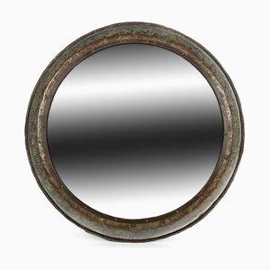 Runder Vintage Metall Spiegel