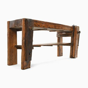 Oak Workshop Workbench, 1920s