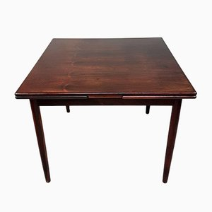Mid-Century Rosewood Extendable Dining Table by Poul Hundevad