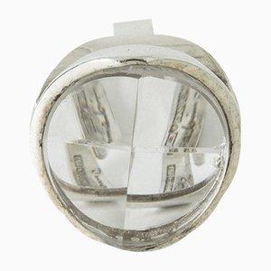 Ring aus Silber & Bergkristall von Jorma Laine für Turun Hopea, 1973
