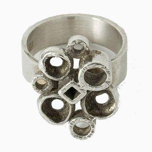 Silberner Ring von Isaac Cohen, 1967