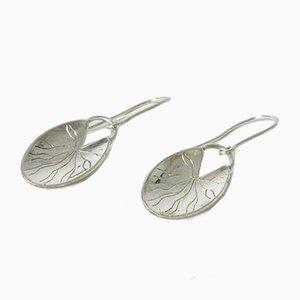 Silberne Ohrringe von Arvo Saarela, 1956, x eingestellt