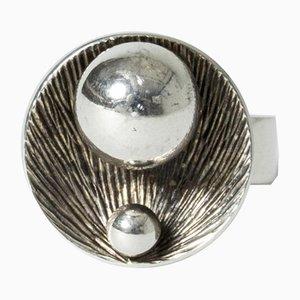 Silver Ring by Elis Kauppi for Kupittaan Kulta, 1971
