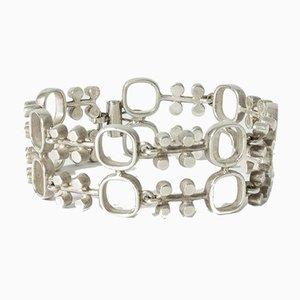Silver Bracelet by Jorma Laine for Kultateollisuus Ky, 1972