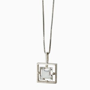 Silver and Rock Crystal Pendant from Bengt Hallberg, 1970s