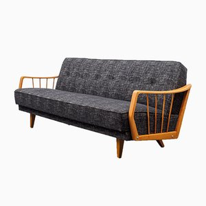 Upholstered Fold-Out Sofa, 1950s