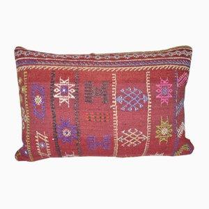 Handgefertigter dekorativer Kilim Kissenbezug
