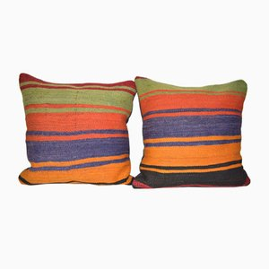 Rustic Kilim Throw Cushion Covers, Set of 2