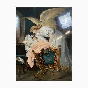 Guardian Angel, 19th-Century, Pastel
