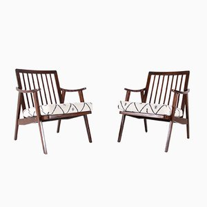 Modernist Visitor Armchairs, 1960s, Set of 2