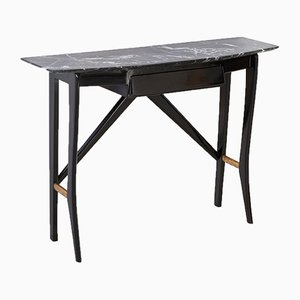 Italian Wood and Marble Console Table from La Permanente Cantu