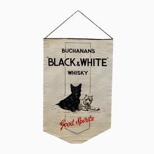 Buchanan's Black & White Whiskey Advertising Banner, 1929