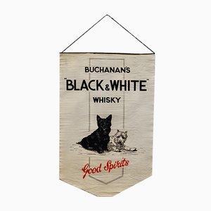 Cartel publicitario de whisky Buchanan en blanco y negro, 1929