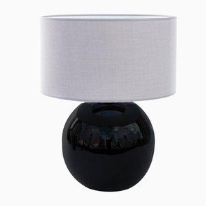 Large Sphere Modern Black Ceramic Table Lamp