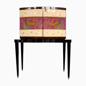 Mid-Century Italian Modern Rosewood Cabinet Bar, 1950s