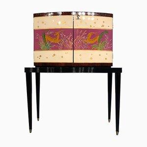 Mueble bar italiano Mid-Century Modern de palisandro, años 50