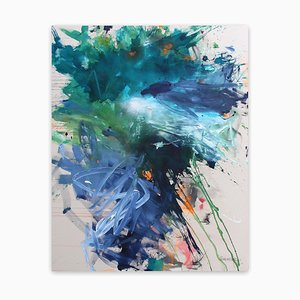 Bad Hair Day (Abstract Expressionism painting) 2020
