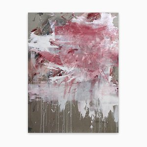 Pink Noise (Abstract Expressionism painting) 2020