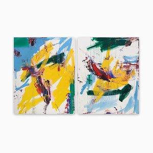 Baci e Fiori (Abstract painting) 2020