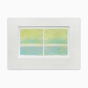 Chartreuse Over Cerelean (Abstrakte Malerei) 2015