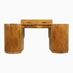 Art Deco Sideboard in Walnut and Birds Eye Maple, 1930s