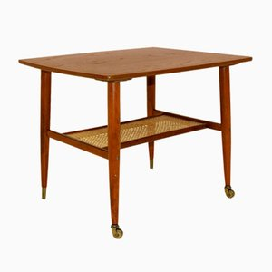 Swedish Teak & Beech Side Table, 1960s
