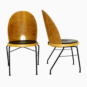 Swedish Oblado Dining Chairs by Börge Lindau for Blå Station, 1950s, Set of 2