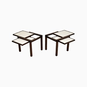 Hexa Side Tables by Bernard Vuarnesson for Bellato, 1980s, Set of 2