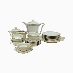 Kaffee- und Dessert Set aus Limoges-Porzellan, 1940er, 22er Set