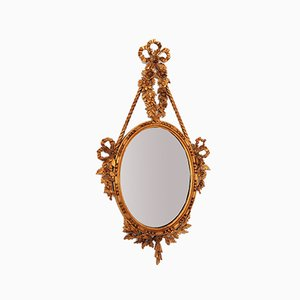 Italian Wall Mirror With Gilded Wood Frame, 1950s