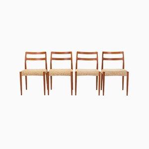 Esszimmerstühle von Johannes Andersen für Uldum Møbelfabrik, 1960er, 4er Set