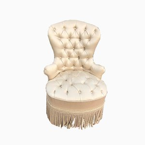 Satin Upholstered Toad Chair