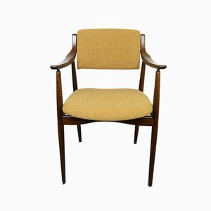 Palisander Armlehnstuhl mit Bezug aus Wolle, 1960er