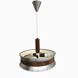 Lampe à Suspension en Palissandre et Aluminium, Danemark