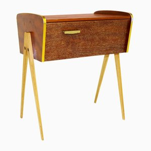 Swedish Rosewood & Oak Nightstand, 1960s