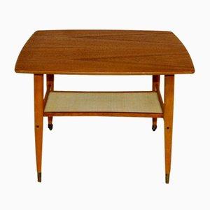 Swedish Teak and Beech Side Table, 1950s