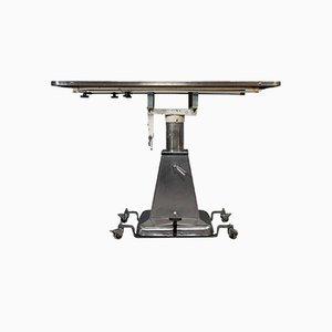 Table Industrielle Vintage en Acier Inoxydable