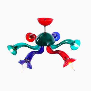 Postmodern Murano Colored Glass VeArt Chandelier by Ernesto Gismondi for Artemide, 1990s