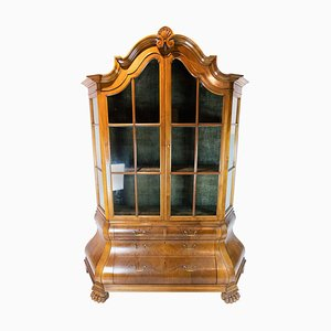 Rococo Walnut and Glass Cabinet, 1910