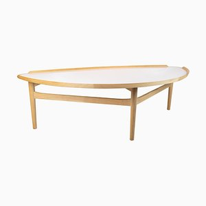 Oak and White Laminate Cocktail Table by Finn Juhl, 1951