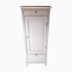 Grey Painted Gustavian Cabinet, 1840s