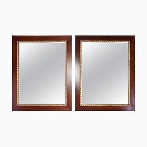 Specchi in mogano con foglia d'oro, Italia, anni '20, set di 2