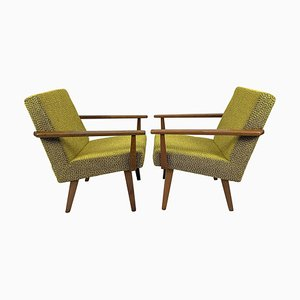 Mid-Century Czechoslovakian Armchairs, 1960s, Set of 2