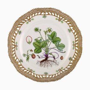 Royal Copenhagen Flora Danica Openwork Plate in Hand-Painted Porcelain, 1964