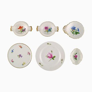 Hand-Painted Meissen Porcelain, Set of 6