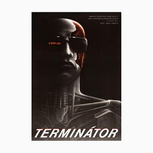The Terminator Poster by Milan Pecák, 1990s