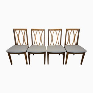 Vintage Teak Dining Chairs by E Gomme for G Plan, 1980s, Set of 4